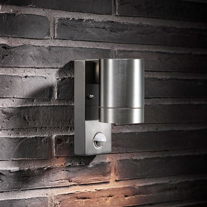 Nordlux Tin Maxi Outdoor Wall Light Fixture - Aluminium - PIR Sensor