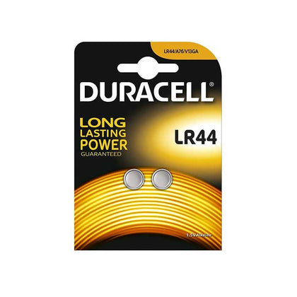 Duracell LR44 Button Cell Batteries - 2 Pack