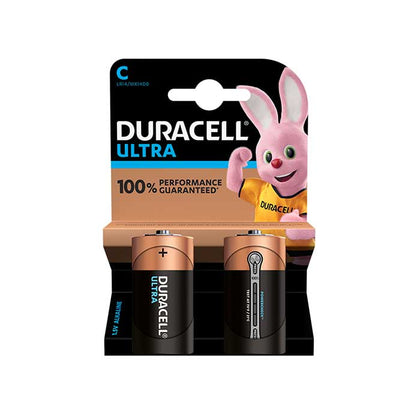 Duracell Ultra Power C Batteries - 2 Pack