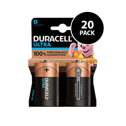 Duracell Ultra Power D Batteries - 20 Pack