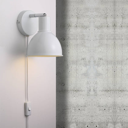 Nordlux Pop Wall Light Fixture - White