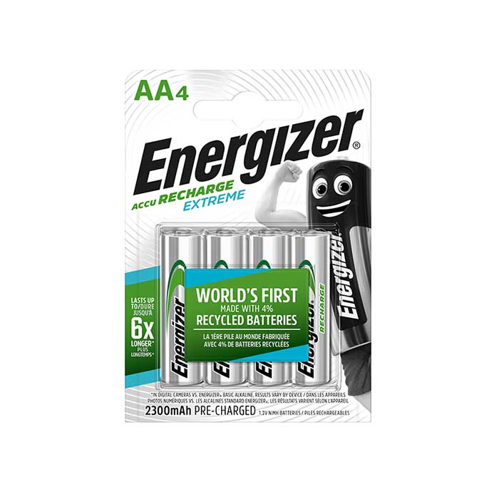 Energizer Extreme AA Batteries - Rechargeable - 4 Pack