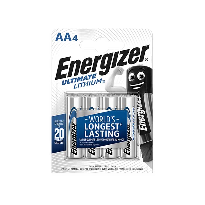 Energizer Ultimate Lithium AA Batteries - 4 Pack