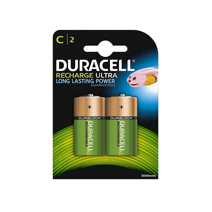 Duracell Recharge Ultra C Batteries - Rechargeable - 2 Pack
