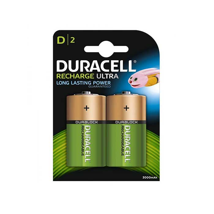 Duracell Recharge Ultra D Batteries - Rechargeable - 2 Pack