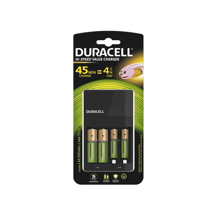 Duracell Hi-Speed Value Battery Charger - Batteries Included
