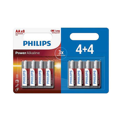 Philips Power AA Batteries - 8 Pack
