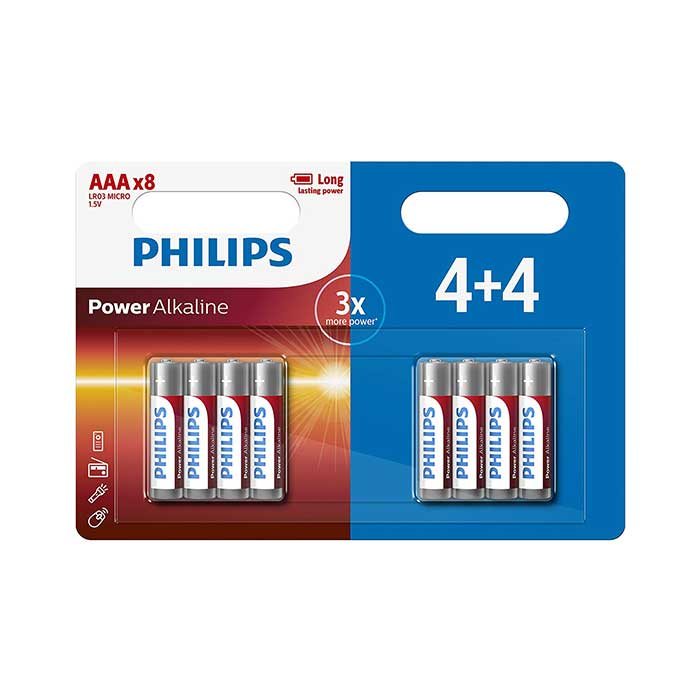 Philips Power AAA Batteries - 8 Pack