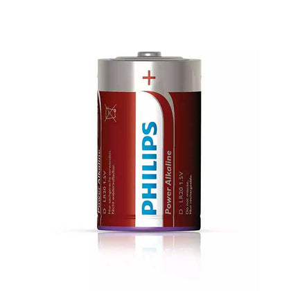 Philips Power D Batteries - 2 Pack