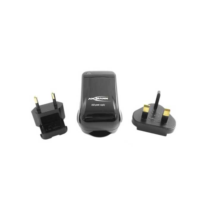 Ansmann USB Travel Charger - UK/EU/US/AUS