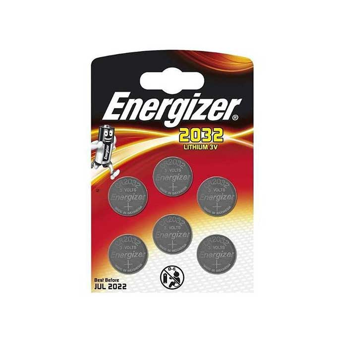 Energizer CR2032 Coin Cell Batteries - 6 Pack