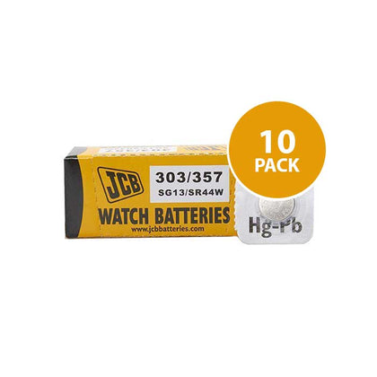 JCB 303/357 Watch Batteries - 10 Pack