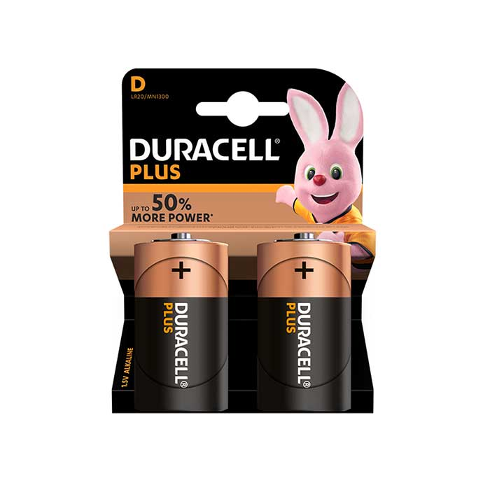 Duracell Plus Power D Batteries - 2 Pack