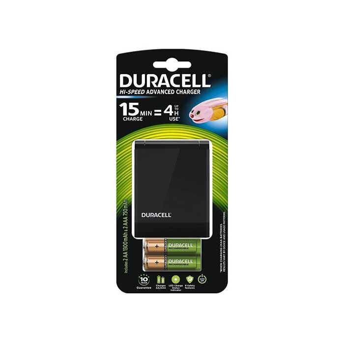 Duracell Hi-Speed Battery Charger - Batteries Included