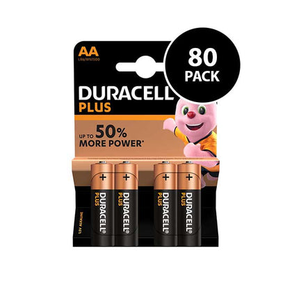 Duracell Plus Power AA Batteries - 80 Pack