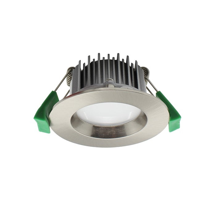 7W LED Downlight - 420lm - 2700K - Dimmable - Brushed Nickel