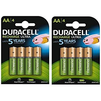 Duracell Recharge Ultra AA Batteries - Rechargeable - 4 Pack