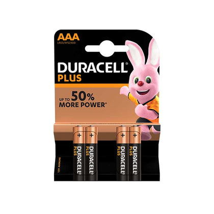 Duracell Plus Power AAA Batteries - 4 Pack