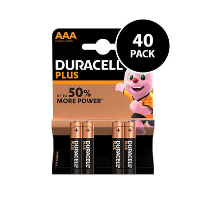 Duracell Plus Power AAA Batteries - 40 Pack