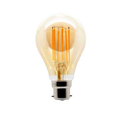 11W B22 GLS Filament LED - 970lm - 2200K - Amber - Non Dimmable