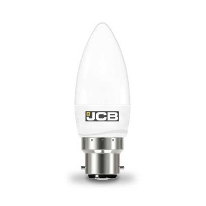 JCB 6W B22 Candle LED - 40W Replacement - 520lm - 6500K - Non Dimmable