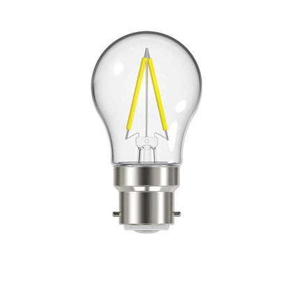 2.3W B22 Golf Filament LED - 250lm - 2700K - Clear - Non Dimmable