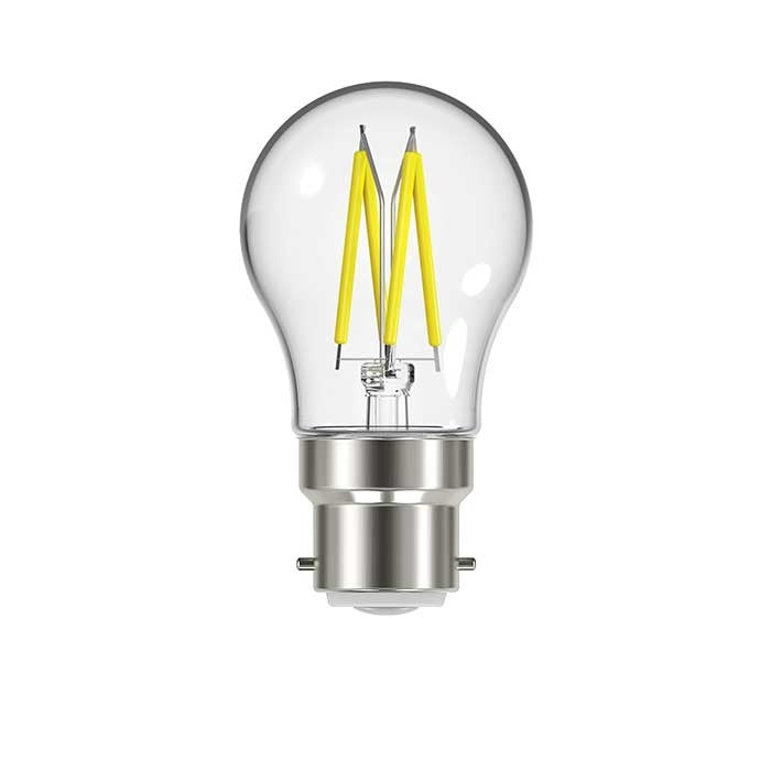 4.8W B22 Golf Filament LED - 450lm - 2700K - Clear - Dimmable