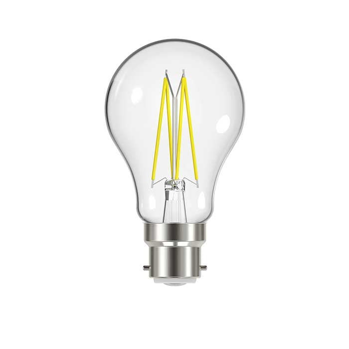 9W B22 GLS Filament LED - 1060lm - 2700K - Clear - Dimmable