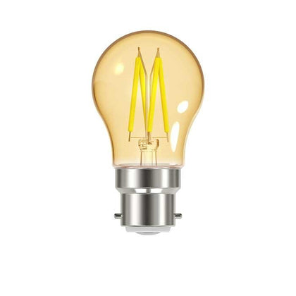 4.8W B22 Golf Filament LED - 300lm - 2000K - Amber - Dimmable