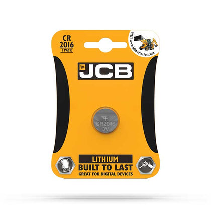 JCB CR2016 Coin Cell Battery