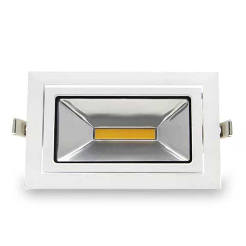 35W Recessed LED Rectangle Downlight - 2800lm - 5000K - Non Dimmable