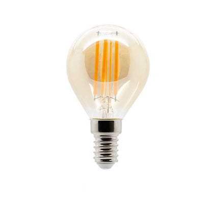 4W E14 Golf Filament LED - 300lm - 2200K - Amber - Dimmable