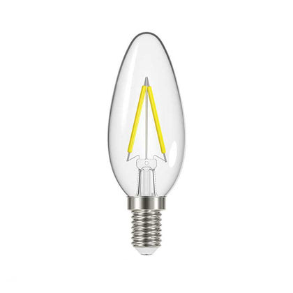 2.3W E14 Candle Filament LED - 250lm - 2700K - Clear - Non Dimmable