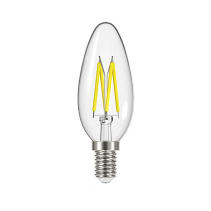 4.8W E14 Candle Filament LED - 450lm - 2700K - Clear - Dimmable
