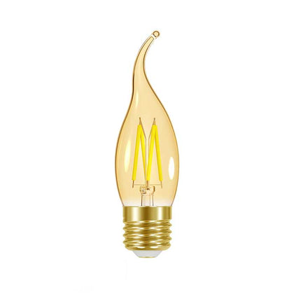 4.8W E27 Flame Tip Filament LED - 300lm - 2000K - Amber - Dimmable