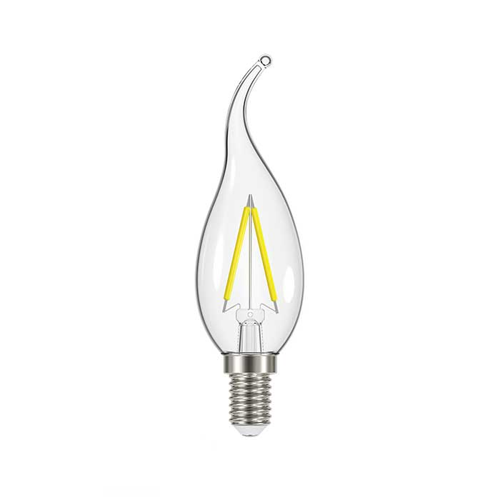 2.3W E14 Flame Tip Filament LED - 250lm - 2700K - Clear - Non Dimmable