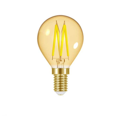 4.8W E14 Golf Filament LED - 300lm - 2000K - Amber - Dimmable