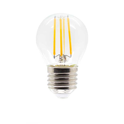 4W E27 Golf Filament LED - 400lm - 2700K - Clear - Dimmable