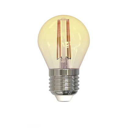 4W E27 Golf Filament LED - 300lm - 2200K - Amber - Dimmable