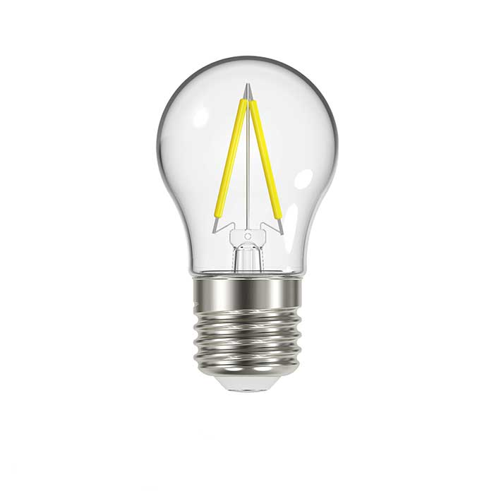 2.3W E27 Golf Filament LED - 250lm - 2700K - Clear - Non Dimmable