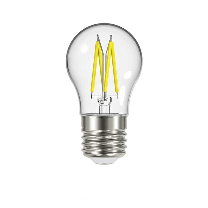 4.8W E27 Golf Filament LED - 450lm - 2700K - Clear - Dimmable