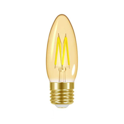 4.8W E27 Candle Filament LED - 300lm - 2000K - Amber - Dimmable