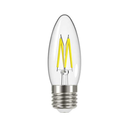 4.8W E27 Candle Filament LED - 450lm - 2700K - Clear - Dimmable