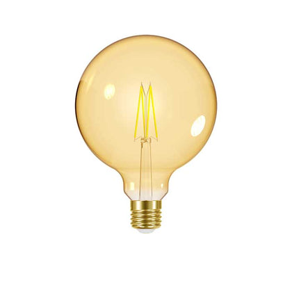 7.5W E27 XL Globe Filament LED - 600lm - 2000K - Amber - Dimmable