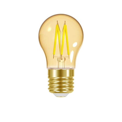 4.8W E27 Golf Ball Filament LED - 300lm - 2200K - Amber - Dimmable