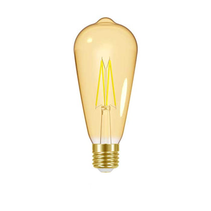 7.5W E27 Tear Drop Filament LED - 600lm - 2000K - Amber - Dimmable