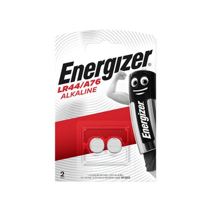 Energizer LR44 / A76 Button Cell Batteries Pack of 2