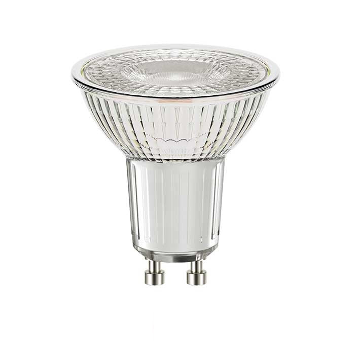 4W Glass GU10 LED - 50W Replacement - 345lm - 2700K - Non Dimmable
