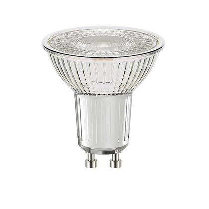 4.6W Glass GU10 LED - 50W Replacement - 375lm - 5000K - Dimmable