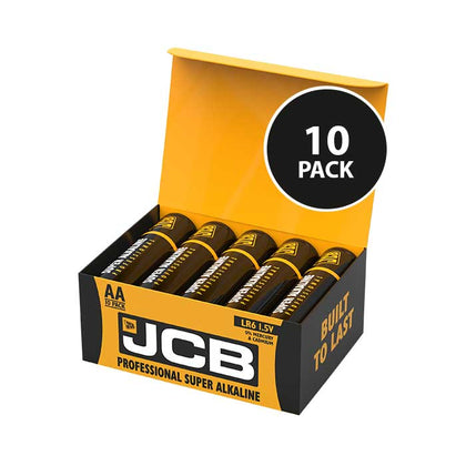 JCB Super Alkaline Industrial AA Batteries - 10 Pack